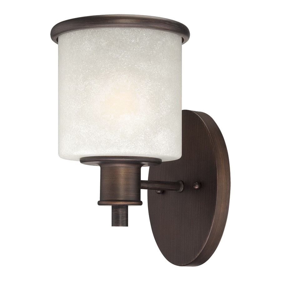 Wall Sconces Hardwired : Shop Millennium Lighting Dalton 6.25-in W 1-Light Rubbed Bronze Arm Hardwired Wall Sconce at ...