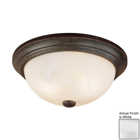 Millennium Lighting 15-in W White Ceiling Flush Mount