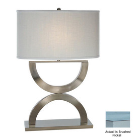 Trend Lighting 28-in Brushed Nickel Indoor Table Lamp with Fabric Shade