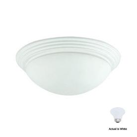 Cal Lighting 16-in W White Ceiling Flush Mount