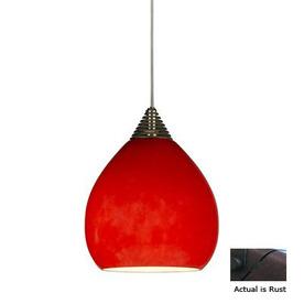 Cal Lighting LED Rust Sphere Linear Track Lighting Pendant