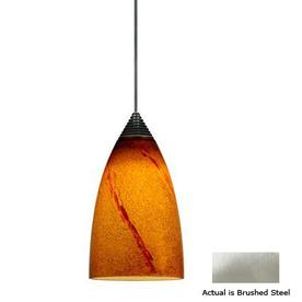 Cal Lighting LED Brushed Steel Bullet Linear Track Lighting Pendant