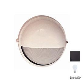 PLC Lighting Marine 10-in Black Outdoor Wall Light