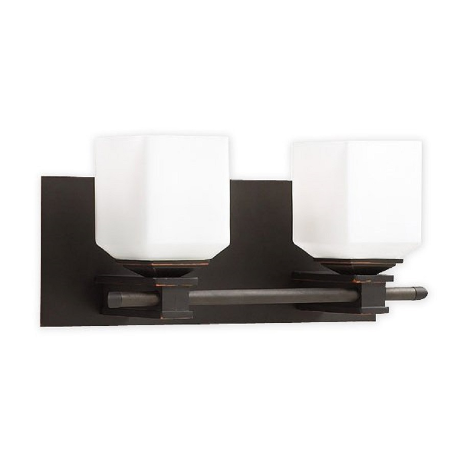 Vanity Light Bar Lowes : Shop PLC Lighting 2-Light Modena Bar Oil-Rubbed Bronze Bathroom Vanity Light at Lowes.com
