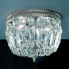 Classic Lighting 8-in W Chrome Crystal Ceiling Flush Mount