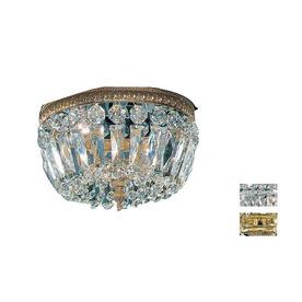 Classic Lighting 10-in W Olde World Bronze Crystal Ceiling Flush Mount