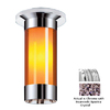 Classic Lighting 12-in W Chrome Crystal Ceiling Flush Mount