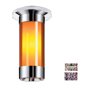 Classic Lighting 12-in Millennium Silver Crystal Ceiling Flush Mount