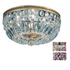 Classic Lighting 14-in Millennium Silver Crystal Ceiling Flush Mount