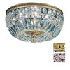 Classic Lighting 14-in Olde World Bronze Crystal Ceiling Flush Mount