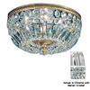 Classic Lighting 24-in W Chrome Crystal Ceiling Flush Mount