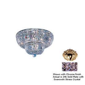 Classic Lighting 18-in 24K Gold Plate Crystal Ceiling Flush Mount