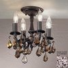 Classic Lighting 10-in W Aged Bronze Crystal Accent Semi-Flush Mount Light