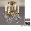 Classic Lighting 10-in Aged Pewter Semi-Flush Mount Light