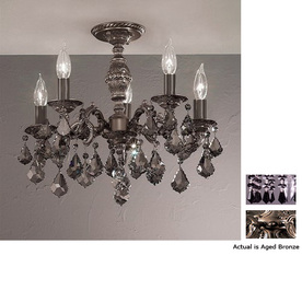 Classic Lighting 18-in Aged Bronze Semi-Flush Mount Light