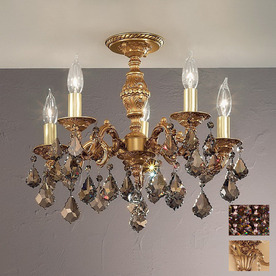 Classic Lighting 18-in French Gold Semi-Flush Mount Light