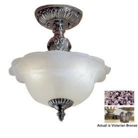 Shop Classic Lighting 13-in Victorian Bronze Alabaster Glass Semi ...