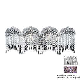 Shop Classic Lighting Emily Chrome Crystal Bathroom Vanity Light ...