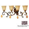 Classic Lighting 4-Light Asheville Copper Bronze Crystal Accent Bathroom Vanity Light