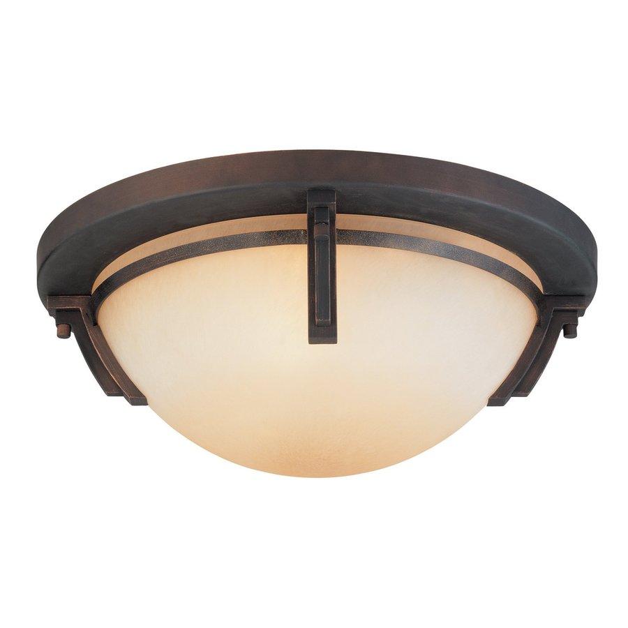 lighting 16 5 in w oil rubbed bronze art glass ceiling flush mount. Black Bedroom Furniture Sets. Home Design Ideas