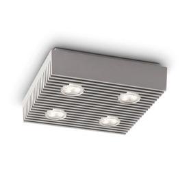 Philips 8-3/8-in W Gray LED Ceiling Flush Mount