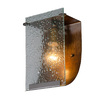 Varaluz 7-in W Fascination 1-Light Hammered Ore Pocket Wall Sconce