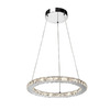 Artcraft Lighting 18-1/2-in W Eternity Crystal Pendant Light