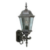 International Lighting 23-in Rustic Silver Outdoor Wall Light