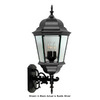 International Lighting 27-in Rustic Silver Outdoor Wall Light