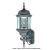 International Lighting 21-1/2-in Distressed Bronze Outdoor Wall Light