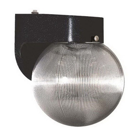 International Lighting 8-in Black Outdoor Wall Light ENERGY STAR