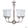 Whitfield Lighting 5-Light Satin Nickel Chandelier