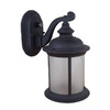Whitfield Lighting 12-in Black Outdoor Wall Light ENERGY STAR