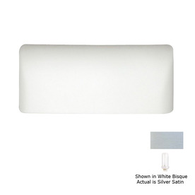 A-19 Islands of Light Gran Balboa 11.5-in W 1-Light Silver Satin Pocket Hardwired Wall Sconce