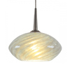 Bruck Lighting Systems Pandora 1-Light Dimmable Matte Chrome Sphere Linear Track Lighting Pendant
