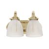 JVI Designs 2-Light Polished Brass Standard Bathroom Vanity Light
