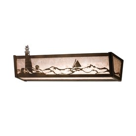 Shop Meyda Tiffany Lighthouse Antique Copper Bathroom Vanity Light at Lowes.com