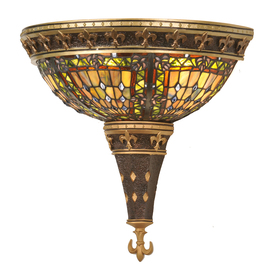 Shop Meyda Tiffany Fleur-De-Lis 18-in W 1-Light Mahogany Bronze ...