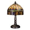 Meyda Tiffany 14-in Mahogany Bronze Tiffany-Style Indoor Table Lamp with Glass Shade