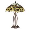 Meyda Tiffany 30-in Mahogany Bronze Indoor Table Lamp with Tiffany-Style Shade