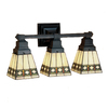 Meyda Tiffany Diamond 20-in W 3-Light Mahogany Bronze Tiffany-Style Arm Hardwired Wall Sconce