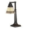 Meyda Tiffany 20-in Mahogany Bronze Tiffany-Style Indoor Table Lamp with Glass Shade