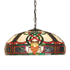 Meyda Tiffany Celtic Knotwork 20-in W Verdi-Washed Mahogany Bronze Hardwired Standard Pendant Light with Tiffany-Style Shade