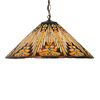Meyda Tiffany Navajo 22-in W Mahogany Bronze Hardwired Standard Pendant Light with Tiffany-Style Shade