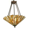 Meyda Tiffany Delta Jadestone 17-in W Antique Copper Opalescent Glass Tiffany-Style Semi-Flush Mount Light