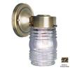 Volume International Jelly Jar 7-in Antique Brass Outdoor Wall Light