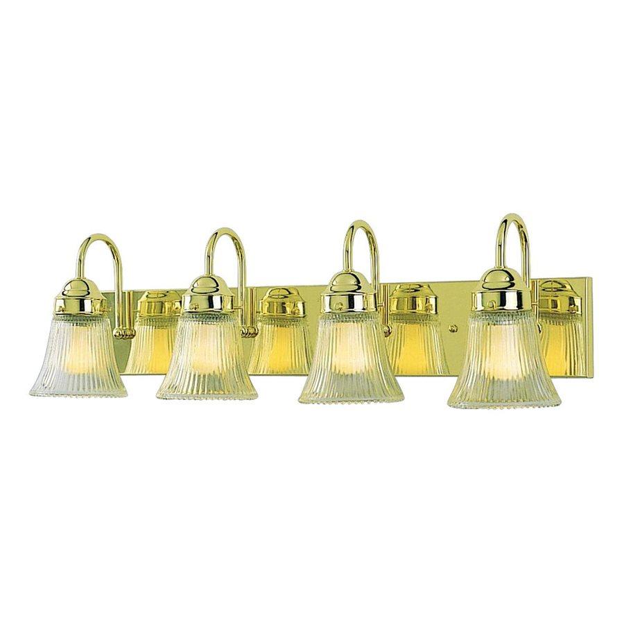 Shop Volume International 4 Light Polished Brass Bathroom Vanity Light At