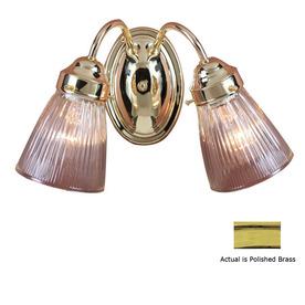 Shop Volume International 2 Light Polished Brass Bathroom Vanity Light At