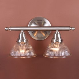 Volume International 2-Light Brushed Nickel Bathroom Vanity Light