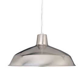 Volume International 15.75-in W Brushed Nickel Pendant Light with Metal Shade